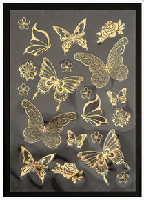 Hunkydory Luxury Foiled and Die-Cut Butterflies on Acetate Two A4 Sheets