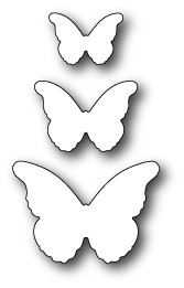 Memory Box 100% Steel Craft Dies Cascadia Butterfly Trio MB99095