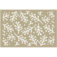 Couture Creations Holly Berry Sprigs Stencil 4'X6 CO724933