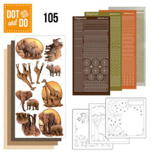 Amy Design Wild Animals Dot and Do Peel Sticker Card Making Kit DODO105
