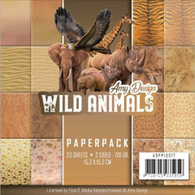 Amy Design Wild Animals 6x6 Paper Pad 23 Wonderful 2-sided Background