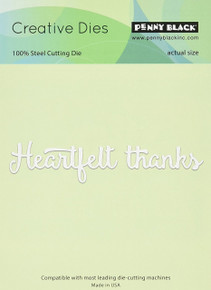 Penny Black 51-218 N/A Creative Dies-Heartfelt Thanks, 4.25'x1.25',,
