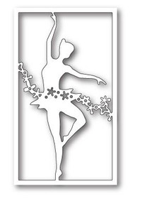 Poppystamps 100% Steel Die Enchanted Floral Dancer Collage 1838