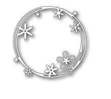 Poppystamps 100% Steel Die Scribble Flower Circle 1801