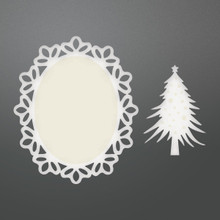 Couture Creations Be Merry Die-Framed Christmas Tree Doily Set