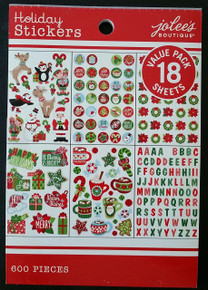 Jolee's Boutique Holiday Stickers Value Pack 18 Sheets Stickers