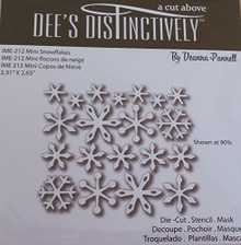 Dee's Distinctively Mini Snowflakes IME-212 Metal Cutting Die