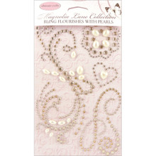 Ultimate Crafts Magnolia Lane Bling Flourishes-W/ Pearls