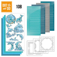 Dot and Do Nr. 108 Card Kit Dolphins with HobbyDot Stickers, 3D Image & Layered Cards