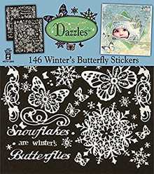 HOTP Dazzles Winter's Butterflies Scrapbooking Stickers HOTP2845