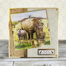 Hunkydory Wild at Heart- Magnificent Rhino Deco-Large Set Card Kit WILDHEART903