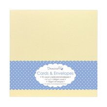 Trimcraft DCCE027 Dovecraft Cards with Envelopes (10 Pack), 6' x 6', Cream