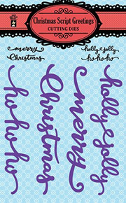 Hot Off The Press - Christmas Script Greetings Cutting Dies