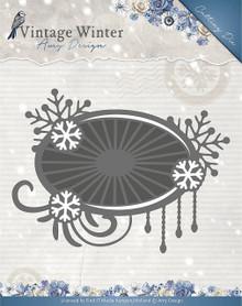 Amy Design - Vintage Winter Die-Snowflake Swirl Label