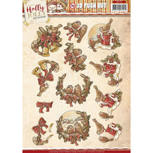 Find It Trading Yvonne Creations Punchout Sheet-Holly Jolly Birds