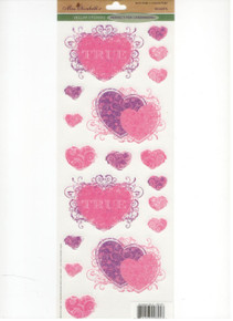Miss Elizabeth's Vellum Stickers - Hearts