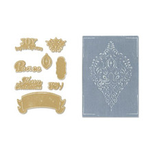 Sizzix Framelits Die Set 8PK with Textured Impressions - Ornament Set by Rachael Bright