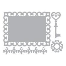 Sizzix Thinlits Border Label Medallion & Key 658953