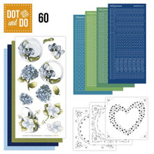 Hobbydots Dot and Do NR060 Blue Flowers Card Set