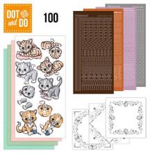 Hobbydots Dot and Do NR100 Cats Card Set