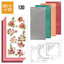 Hobbydots Dot and Do NR130 Red Flowers Card Set