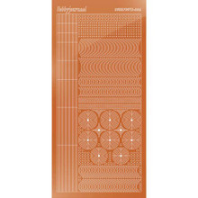 Find It Trading Hobbydots sticker style 5- Mirror - Copper