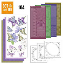 Dot and Do Nr. 104 Card Kit Butterflies HobbyDot Stickers, 3D Image & Layered Cards