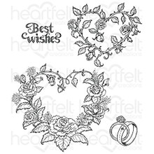 Heartfelt Creations Classic Wedding Roses HCPC-3788 Cling Stamps