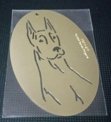 "Doberman Dog Stencil XDAH-217  2.5"" x 3.5"""