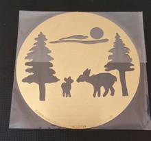 """Forest Scene Stencil XDAH-191  3.5"""" Round"""