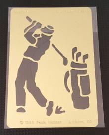 "Golf Stencil PRH-185 2""x3"""