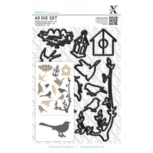 Xcut A5 Die Set, Mixed Birds