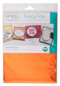 Gina K. Designs Fancy Foils 6' x 8' Sheets 12 Sheets per Pack (Sweet Mango)