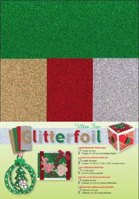 Ultra Fine Glitter foi Ultra Fine Glitter Foil Sheets for Scrapbooking, 2 Green/3 Assorted Colors
