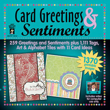 Card Greetings & Sentiments on CD In White Sleeve from HOTP 1512