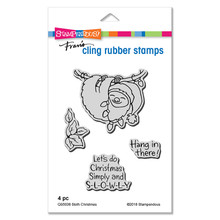 Stampendous Die and Stamp Set Bundle- Sloth Christmas