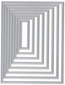 CottageCutz CCB-004 Basics Dies (8 Pack), .4' x 1.4' To 3' x 4', Rectangle, Grey