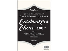 Paper Accents Extra Heavy Weight Cream Cards 100lb A2 Cards with Envelopes