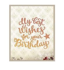 Couture Creations My Best Wishes for Your Birthday Die Set for Scrapbooking (CO724525)