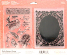 Couture Creations Butterflies and Roses Couture Stamp and Embossing Set, Multicolor