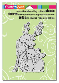 Stampendous Cling Furry Friends Rubber Stamp