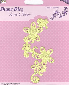 Nellie's Choice Shape Die Lene Design Swirl & Flowers SDL028