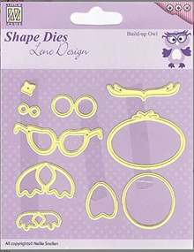 Nellie's Choice Shape Die Lene Design Build Up Owl SDL024