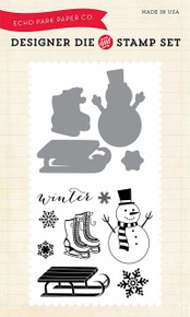 Echo Park Paper Company Snow Day Die/Stamp Set