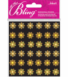 Jolee's Bling Stickers: Gold Mini Flowers