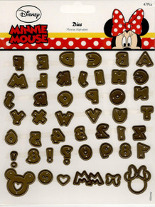 Disney Minnie Mouse Uppercase Alphabet Die set
