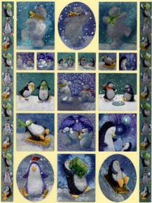 Dufex Penguin And Polar Bear Fun Self Adhesive Stickers