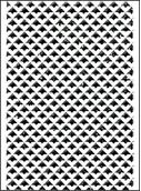 Crafts-Too Mpress Embossing Folder 4x6 Retro Triangles