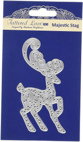 Tattered Lace Magestic Stag Cutting Die, Silver TLD0494