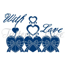 Tattered Lace Harmony with Love Cutting Die, Silver 440931